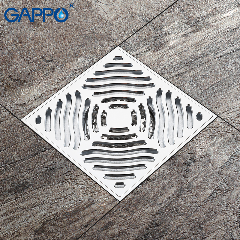 golden copper anti odor square bathroom accessories sink floor bathtub shower drain cover luxury sewer filter k 8803 GAPPO Drains square bathroom floor anti-odor bath drain floor drains bathroom shower drain strainer