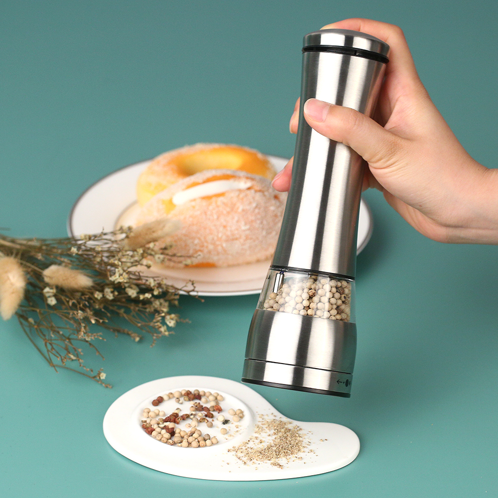 New Electric Pepper Mill Salt And Pepper Grinder Kitchen Tools ...