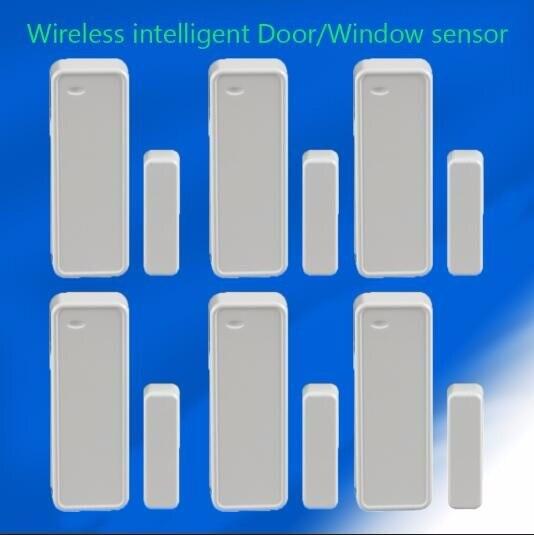 6pcs/lot 433MHZ Wireless Door window magnet contact sensor for smart home burglar alarm system 6pcs 433mhz 868mhz door sensor door gap magnetic detector window magnet sensor door contact for home security alarm system x6