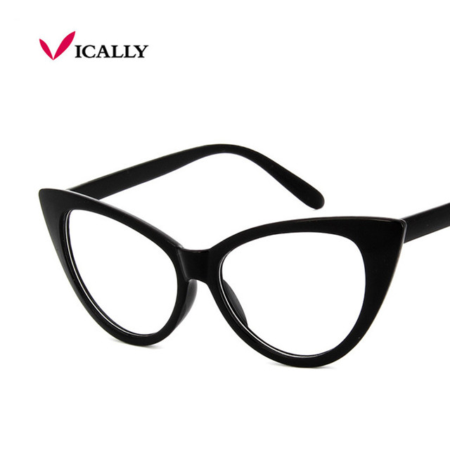 c8f151d2f0 New Fashion Brand Women Cat Eye Sunglasses Plain Glasses Women Clear Cat  Eye Glasses Frame Vintage ...