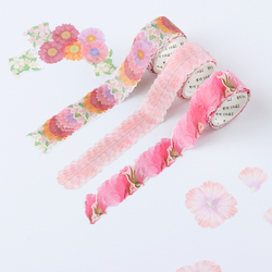 200 PCS/Rolle Blume Blütenblätter Washi Band Dekorative Masking Tape Duft Sakura Washi Band Scrapbooking Tagebuch Papier Aufkleber