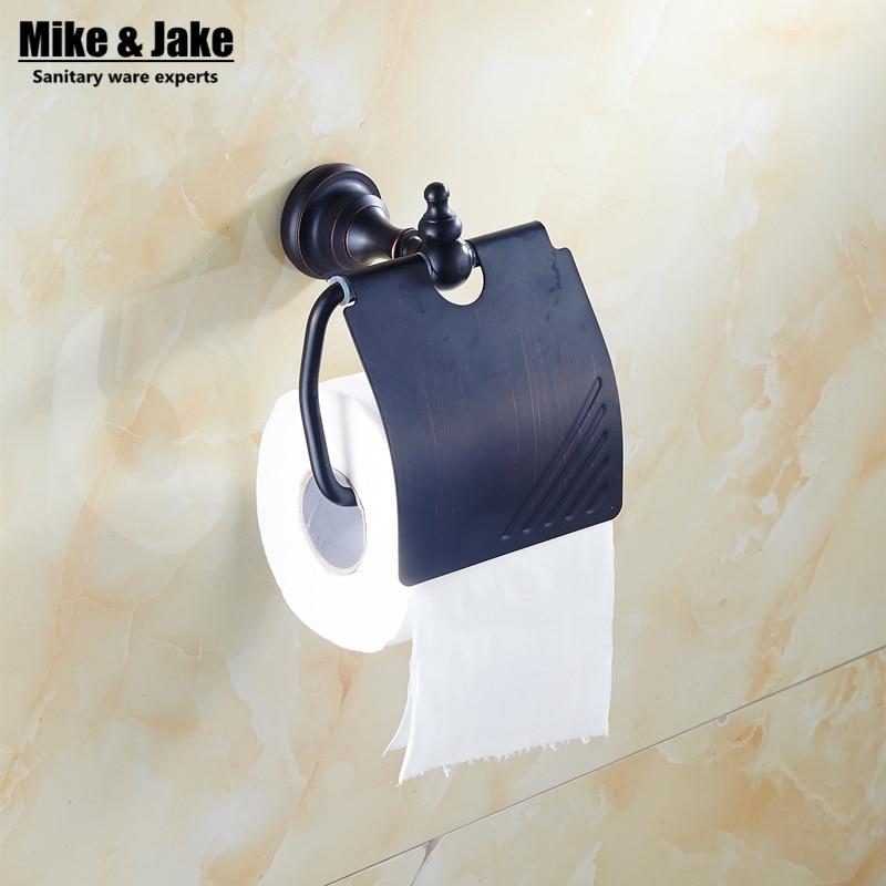 Bathroom black Toilet Paper Holder Roll Holder,Tissue Holder,Solid Brass -Bathroom Accessories Products flat aluminum bathroom accessories bathroom tissue boxes toilet water toilet paper holder