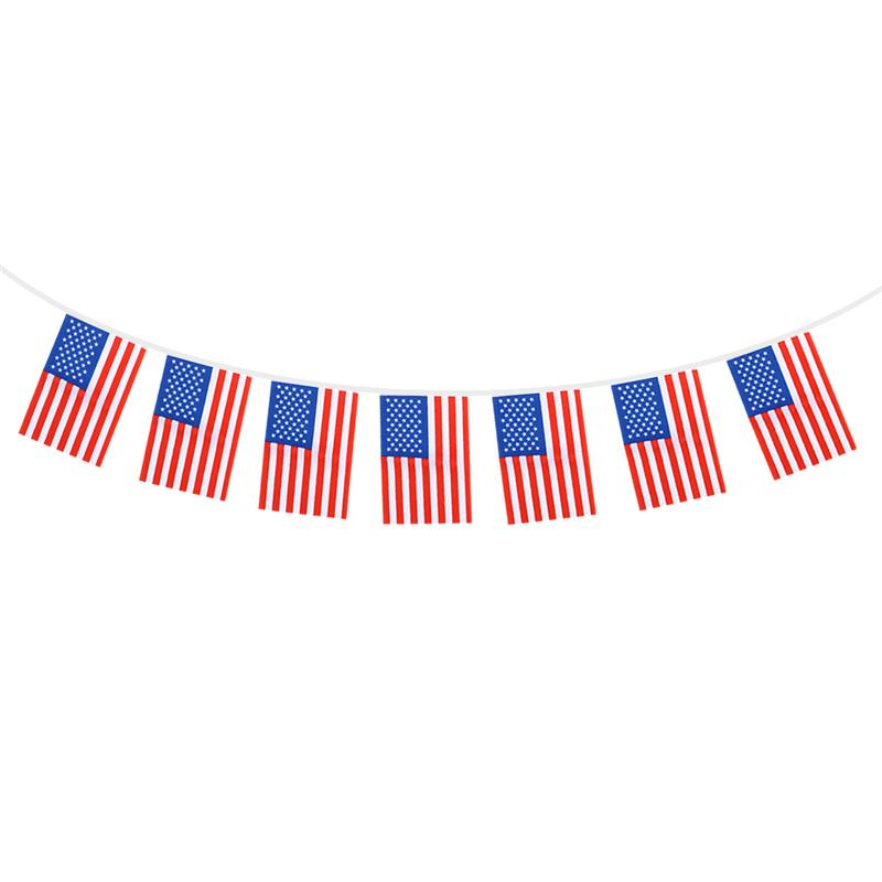 2c3f4577d245 1 x 8.5M Patriotic American Flag Banner Printed Stars and Stripes 32 USA  Flag Banner for Home Garden