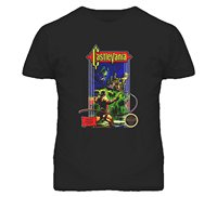 GILDAN New Short Sleeve Round Collar Castlevania Nes Retro Video Game T Shirt Black