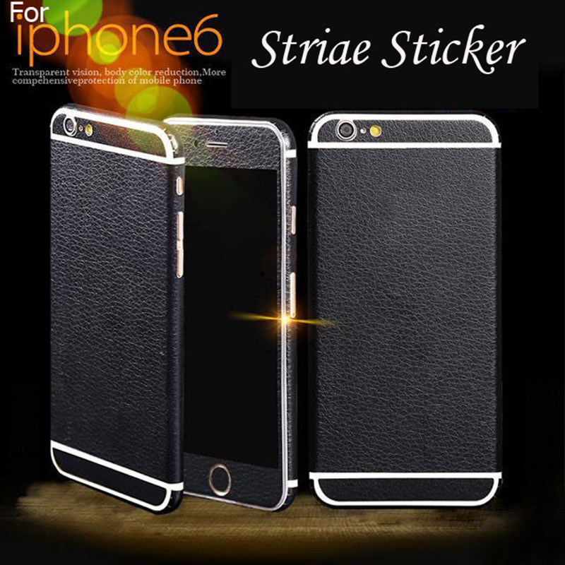 Hot Sale! Neweat black color 360 Degree Full Body Decal Skin PU Phone Protective Sticker For iphone 6 6S Phone Case