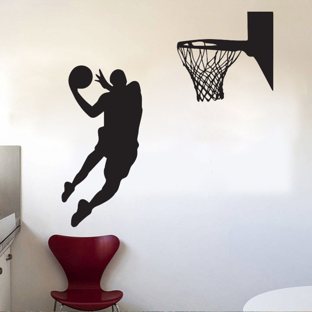 Acting cool wall decal nba slam dunk basketball wall mural acting cool wall decal nba slam dunk basketball wall mural removable art vinyl wall decal room decorative sport wallpaper w 1018 in wall stickers from home amipublicfo Choice Image