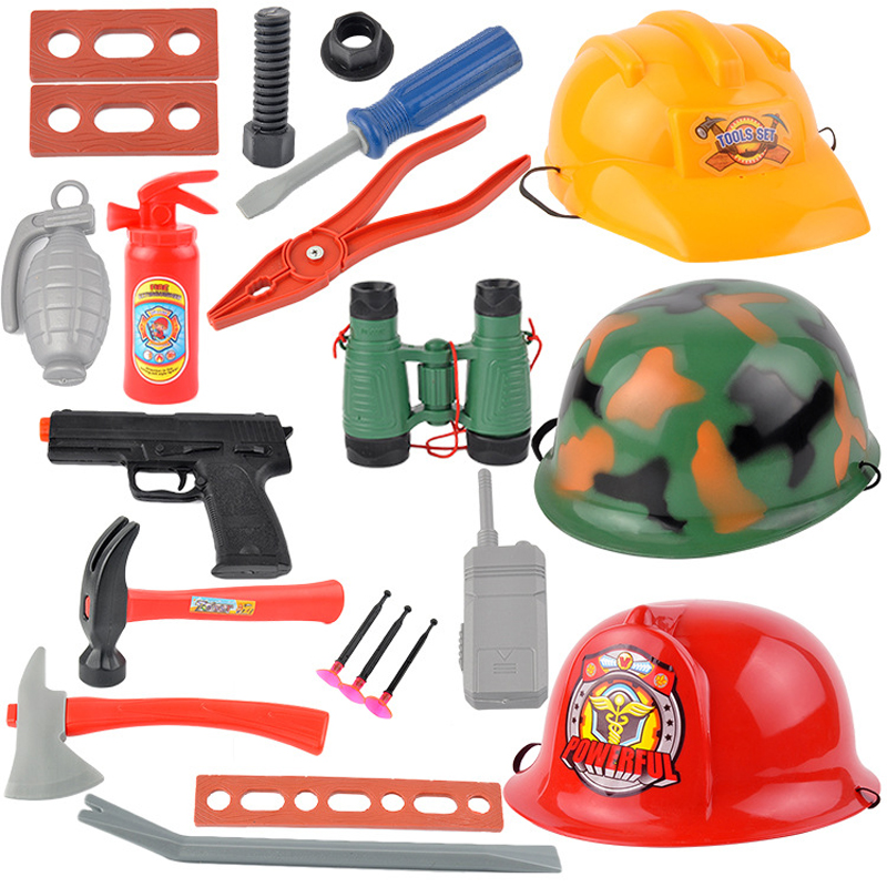 Sets Action-Toys Police Army Christmas Creative Children Fire Kids Role-Play-Toy Engineering
