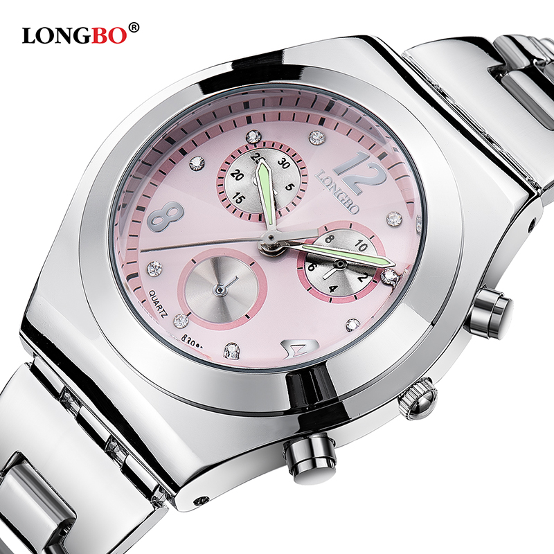 где купить  New Brand Relogio Feminino Date Day Clock Female Stainless Steel Watch Ladies Fashion Casual Watch Quartz Wrist Women Watches  дешево