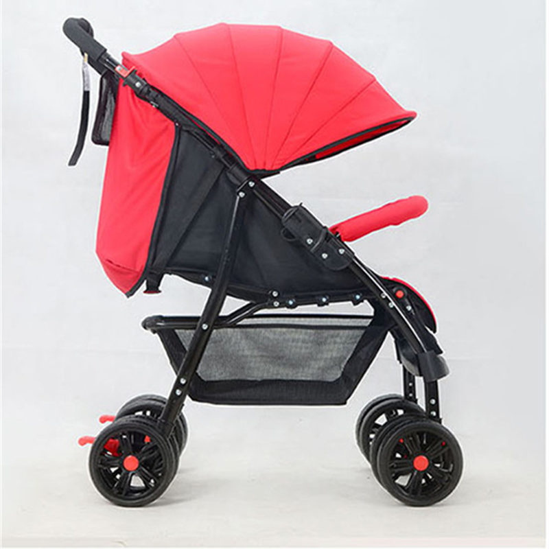 Four-Wheel Baby Stroller Folding Light Portable Baby Carriage carrinho High Landscape Sit & Lie Baby Pram Pushchair Bebek Arabas high landscape suspension stroller four wheel two way light folding sit lie baby cart