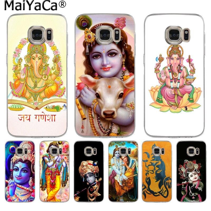 Maiyaca Colorful Lord Krishna Phone Case Fashion Back