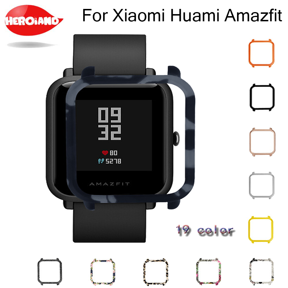 Slim Colorful Frame PC Case Cover for Xiaomi Amazfit Bip BIT PACE Lite Youth Watch Protect Shell for Xiaomi Huami Amazfit Watch