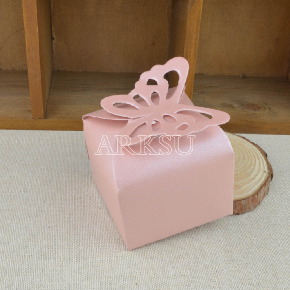 50 pieces Paper Butterfly Wedding Candy Box chocolate boxes wedding ...