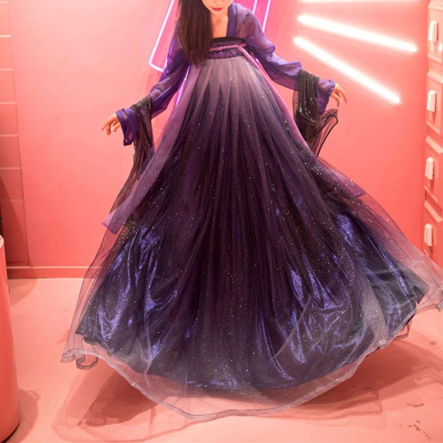 Female Hanfu Chinese Dress Traditional Chinese Clothing Purple Star Hanfu Dress Women Hanfu Costumes Princess Dresses
