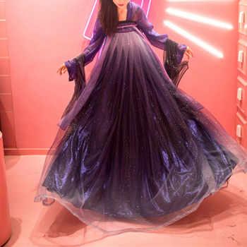 Female Hanfu Chinese Dress Traditional Chinese Clothing Purple Star Hanfu Dress Women Hanfu Costumes Princess Dresses DQS1423 - DISCOUNT ITEM  20% OFF All Category