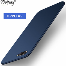 Wolfsay Cover for OPPO A5 Case Ultra Thin PC Armor Hard Back Phone Case for OPPO A5 Cover OPPO A3S Coque OPPO Ax5 Fundas 6.2