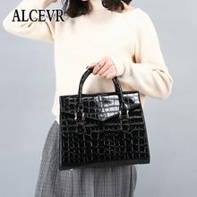 ALCEVR crocodile pattern style cross-border fashion one-shoulder slanting bag totes