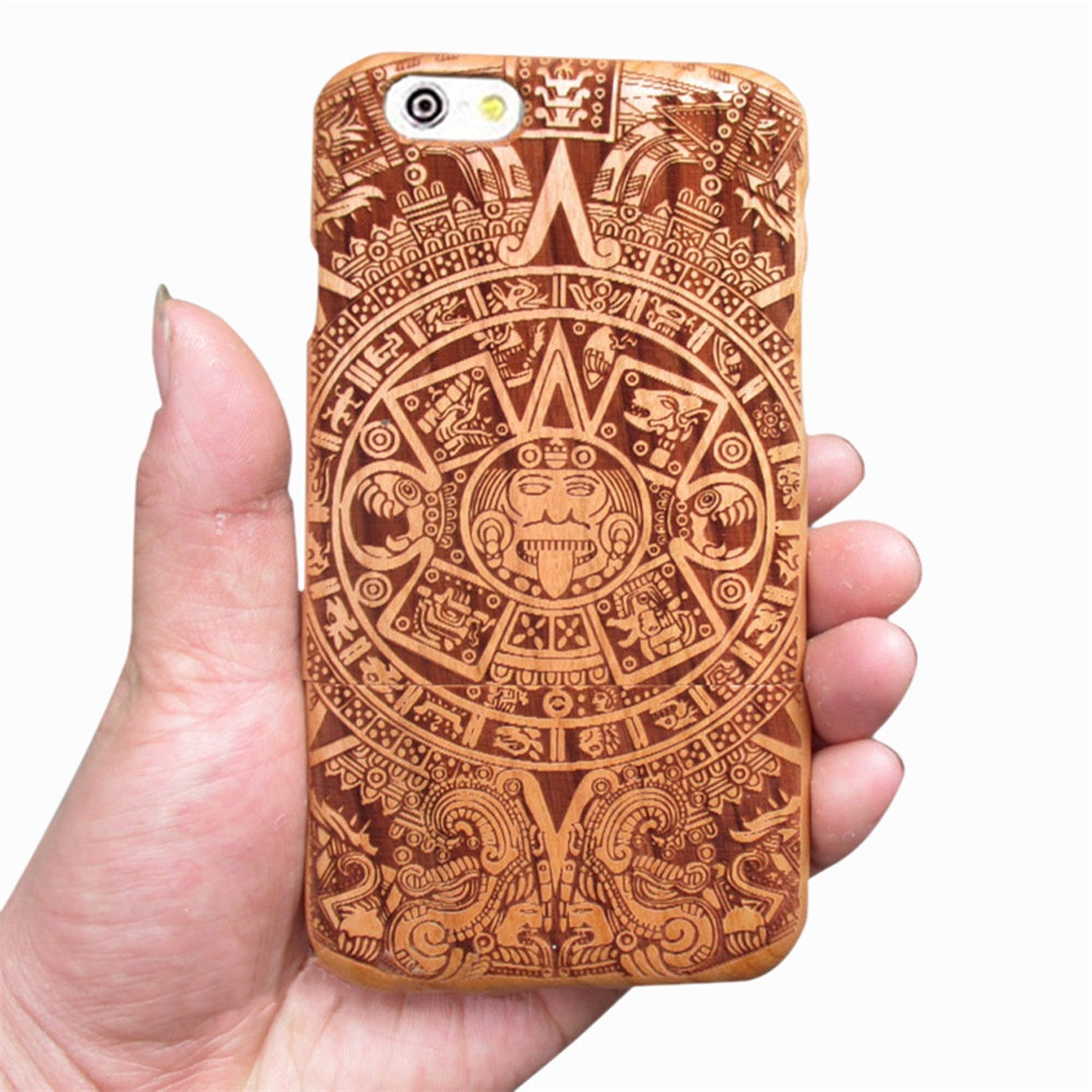 2018 New Fashion Real Natural Bamboo Wood Wooden Hard Case Cover Shell for iPhone 6 Gift Nice for you Wholesale Price