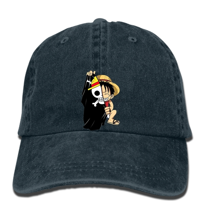 837f4683f4f hip hop Baseball caps Men Fashion Customized cap Vector Anime One Piece D  Luffy Printed Male Fashion