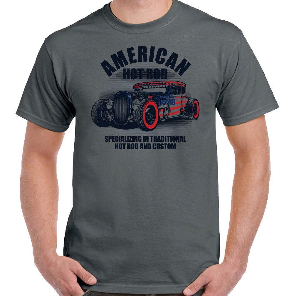 American Hot Rod Hommes T-Shirt Classique USA Gaz Personnalisé Amateurs De Voiture Singe