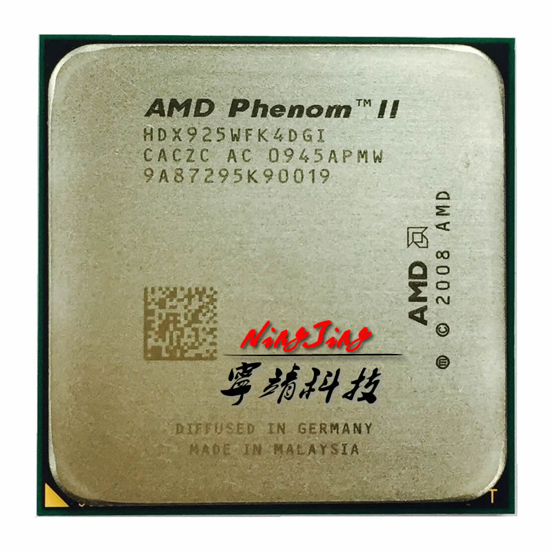 AMD Phenom II X4 925 95W 2.8 GHz Quad-Core CPU Processor HDX925WFK4DGI Socket AM3