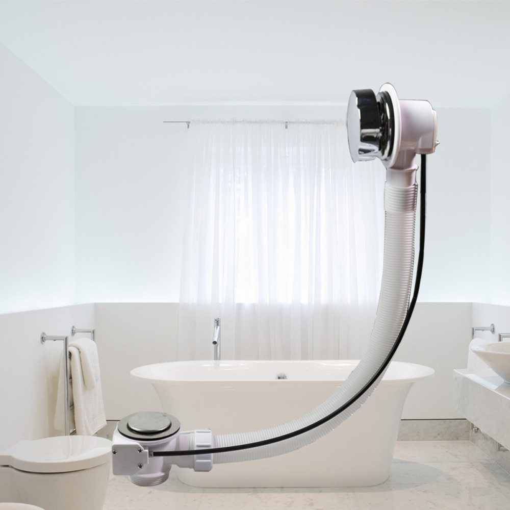 Talea baignoire évier crépine baignoire vidange avec filtre baignoire câble contrôleur vidange déchets de bain et assemblage de débordement