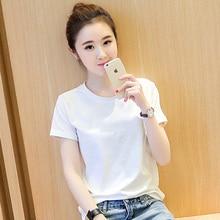 White T-shirt, Short Sleeve,2019 New Kind of T-shirt, Xia Han Edition, Loose Half Sleeve T-shirt, Bottom Shirt