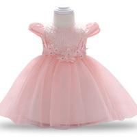 Цветок Платье для маленьких девочек свадебные платья принцессы для девочек 1 год на день рождения детская одежда новорожденных вечерние то...