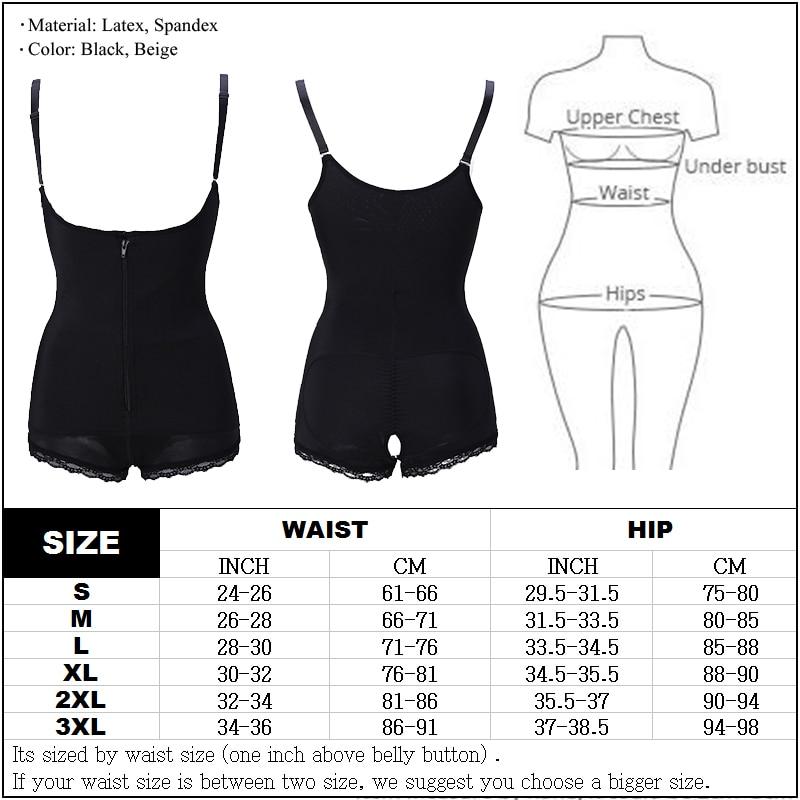 Tummy Control Women Body Shaper with zipping