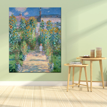 Weite Monet Garden Canvas Painting Claude Famous Replica Wall Art Picture For Living Room Home Decor Unframed