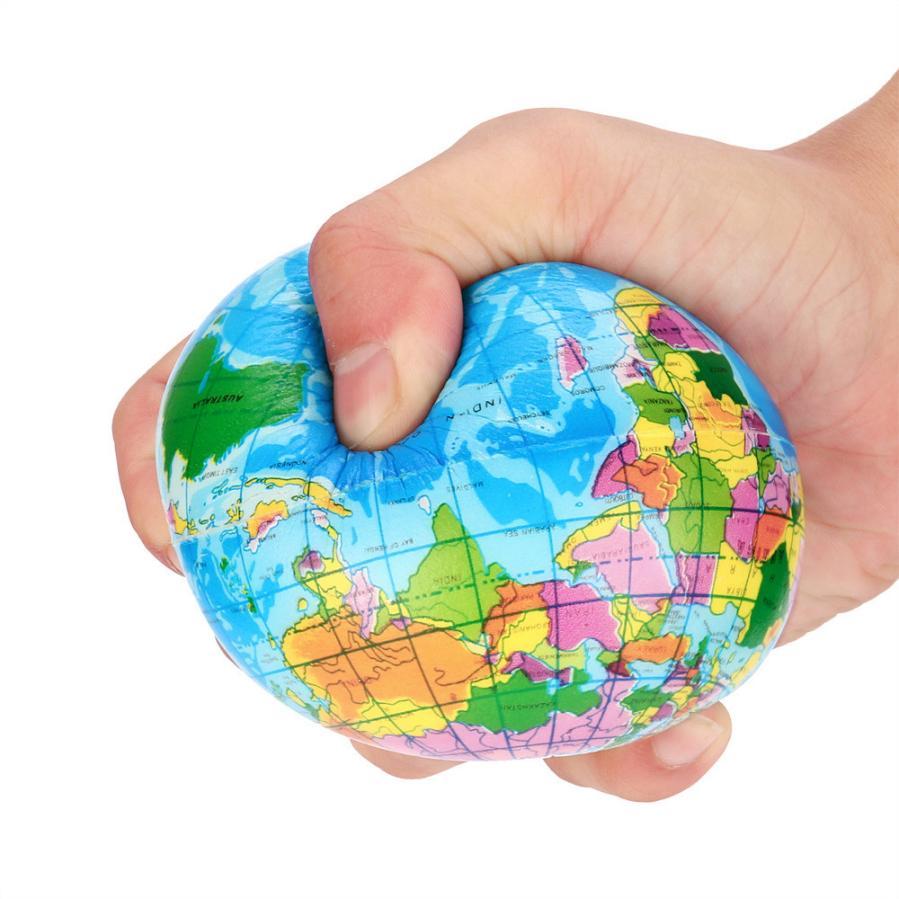 Mooistar2 #4022D Stress Relief World Map Foam Ball Atlas Globe Palm Ball Planet Earth Ball