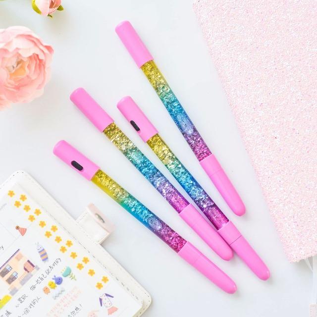 Luminous Crystal Glitter Fine Gel Pen
