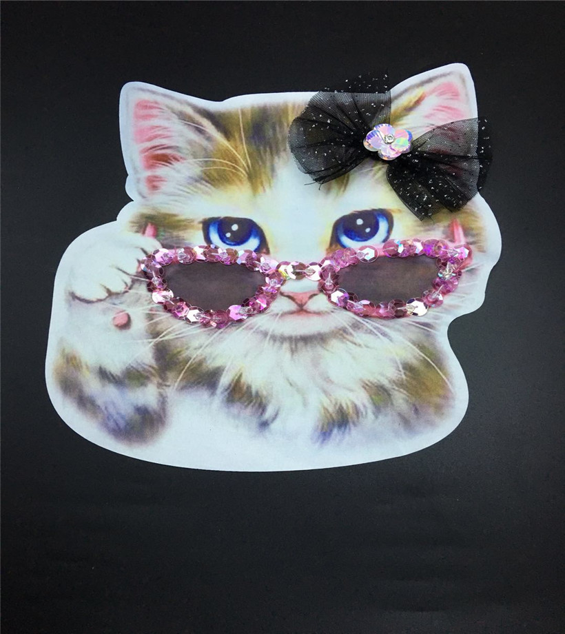 Cat Fabric Patch Embroidered Sew on Patches For Clothing DIY Decoration