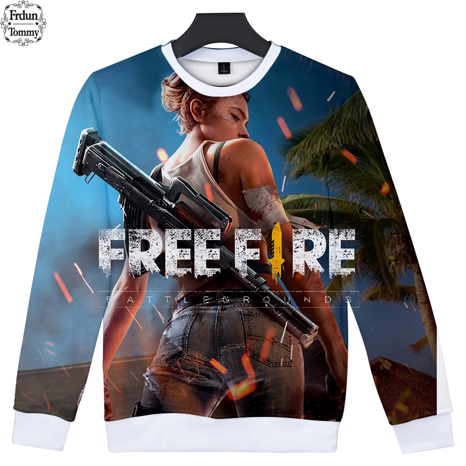 Us 1105 41 Offfree Fire 3d Funny Autumn Sweatshirt Capless 2018 Shooting Game Womenmen Popular Fashion Cool Long Hoodies Tops Clothes Print In