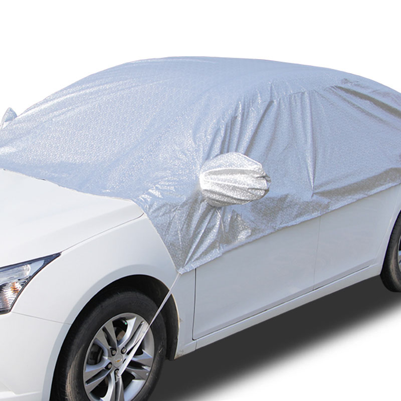 5D Universal Half Car Covers Sunshade Styling Foil Waterproof Thicken Anti UV Rain Snow Sunshade Heat Protection Dustproof