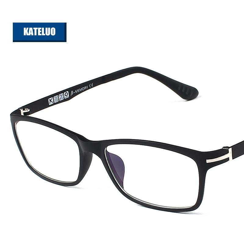 KATELUO ULTEM (PEI) - Gafas de computadora de tungsteno Antifatiga Gafas resistentes a la radiación Gafas de montura Gafas de grau RE13025