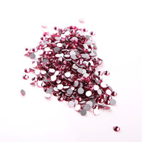 SS20 4.6 4.8mm ,Rose 1440pcs/bag Non HotFix FlatBack Rhinestones,glass Glitter glue on loose DIY nail crystals stones
