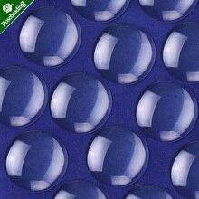"""50 יחידות ברור עגולה זכוכית הכיפה קרושון Flatback קריסטל אריחי זכוכית מגדלת כיסוי fit 30 מ""""מ קמיע קרושון קמיע בסיס הגדרת"""