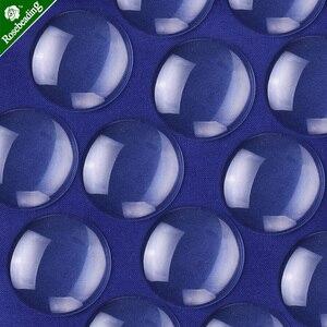 Image 1 - 50 قطع واضح جولة زجاج قبة كابوشون flatback الكريستال البلاط والزجاج المكبرة حجاب قاعدة غطاء مناسبا 30 ملليمتر النقش كابوشون إعداد