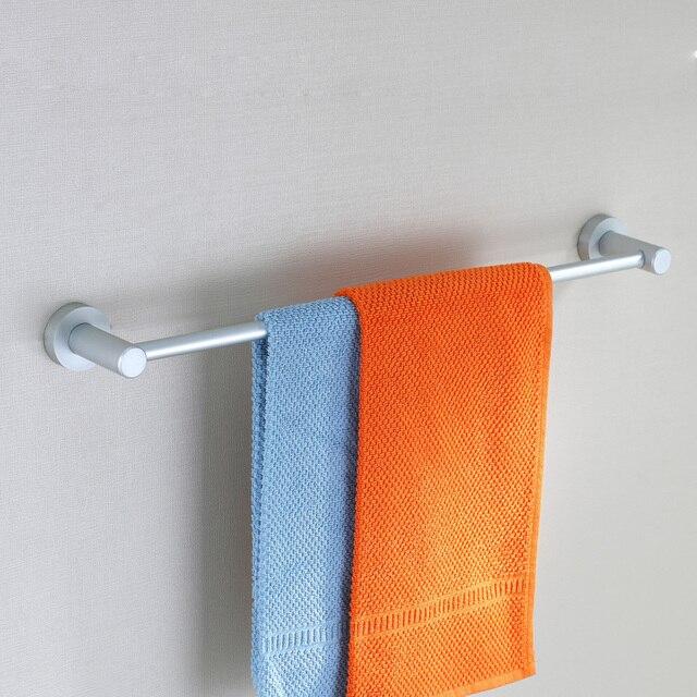 Free shipping aluminum single Towel bar Towel Rack hanging rod Bathroom Accessories wall mounted