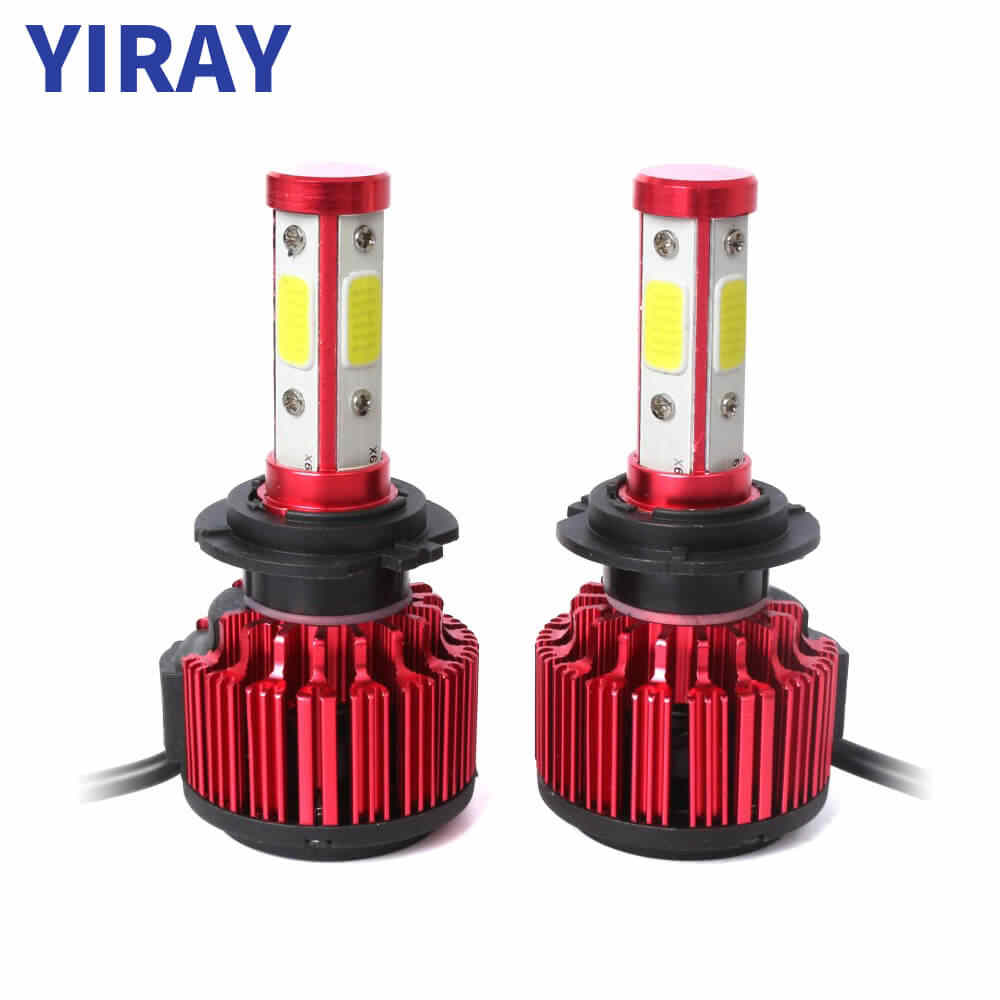 YIRAY LED H4 H7 LED Headlight Bulbs Canbus 8000LM 100W COB Chip 9005 9006 H13 H11 9004 9012 6500k LED fog Light Car Lights 2PCS