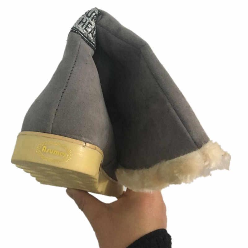 2020 yeni sıcak kar botları kadın peluş Kış orta buzağı Çizmeler Moda düğün Ayakkabı Marka bayan botas düz ayakkabı