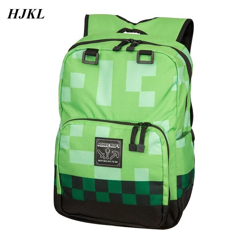 Hjkl Minecraft Backpack Children School Bags High Quality Boy Backpacks Sac A Main Travel Good Bag For Kids Mochila Good Gift