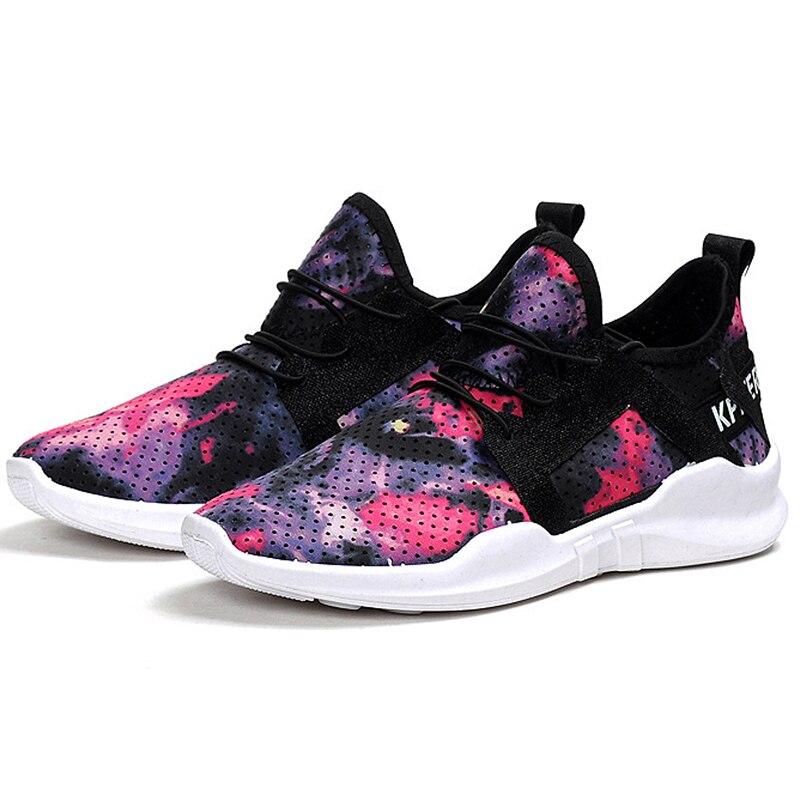 Women Vulcanize Shoes Fashion Women Shoes Trainers Breathable Print Flower Women Sneakers Casual Shoes 2018 Top sneaker