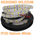 5M 12V 5630 LED Strip IP20 Non-Waterproof 60LED/M Neutral White Nature White Flexible LED Strip Tape DC12V