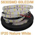 5M 12V 5630 LED Strip IP20 Non-Waterproof 60LED/M Neutral White Nature White Flexible LED Strip Tape DC12V