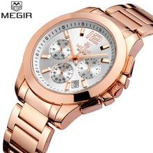 Megir Vrouwen Horloge Top Merk Luxe Chronograaf Staal Vrouwelijke Klok Klassieke Zakelijke Quartz Lady Horloge Relogio Feminino 5006