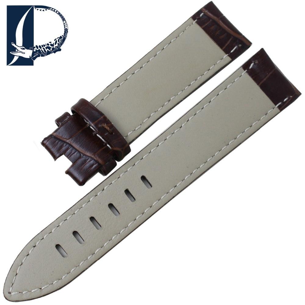 Pesno Armbandsur med äkta läder Svart Brun Kalvskinnsrem 20 mm 22mm - Tillbehör klockor - Foto 6