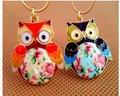 2016   Glaze Color Drops Owl Pendants   Fashion Vintage Necklaces Jewelry  N027 M/D