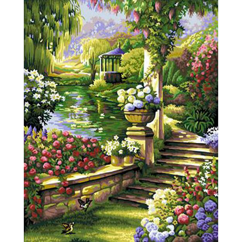 Flower Garden Path popular garden path pictures-buy cheap garden path pictures lots