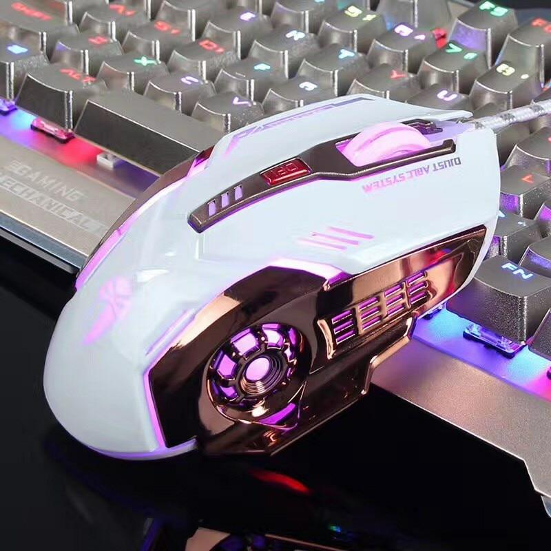 Desxz профессиональный проводной программируемый 6 Кнопка игровая Мышь 3200 Точек на дюйм оптический ansot Мыши компьютерные Дыхание LED pubg игры Мы...